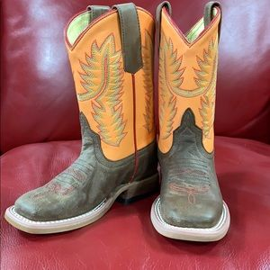 Anderson Bean Orange You Glad To See Me Kids Boots